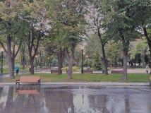 古老秋天堡垒公园废墟 图库摄影