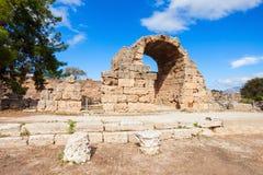 古老科林斯湾在希腊 库存图片
