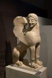 古老科林斯湾 狮身人面象雕象在博物馆 免版税库存图片