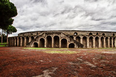 古老竞技场在庞贝城 免版税图库摄影