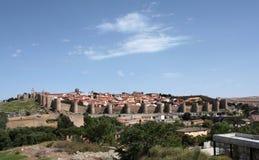 古老筑堡垒于的城镇 图库摄影