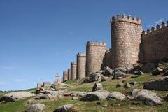 古老筑堡垒于的墙壁 库存图片