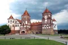 古老米尔城堡群在白俄罗斯 免版税库存图片