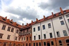 古老米尔城堡群在白俄罗斯 库存照片