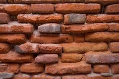 古老红砖墙壁背景  免版税库存图片