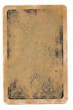 古老纸牌使用了难看的东西封面纸背景 免版税库存图片