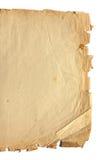 古老纸部分 免版税图库摄影