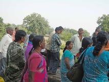 古老组印第安寺庙游览访问 库存图片