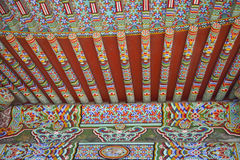 古老结构亚洲详细资料屋顶 库存照片