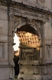 古老结构罗马 免版税库存图片