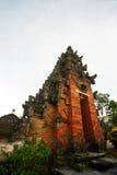 古老结构巴厘岛寺庙 免版税图库摄影