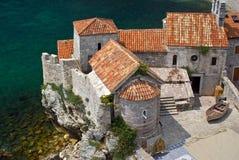 古老结构budva montenegro 免版税库存图片