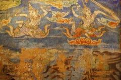古老绘画墙壁 免版税图库摄影