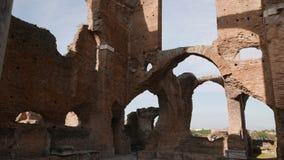 古老罗马别墅废墟在意大利 股票录像