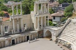 古老罗马剧院在普罗夫迪夫,保加利亚 免版税图库摄影