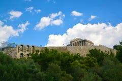 古老罗马剧院在雅典希腊 免版税库存图片