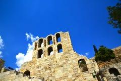 古老罗马剧院雅典,希腊 免版税库存照片