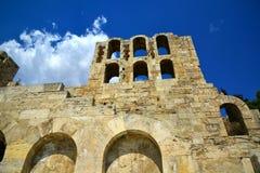 古老罗马剧院雅典,希腊 库存照片