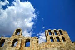 古老罗马剧院雅典,希腊 免版税库存图片