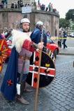 古老罗马历史游行的战士 免版税图库摄影