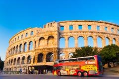 古老罗马圆形剧场;普拉,克罗地亚 库存照片