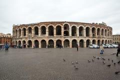 古老罗马圆形露天剧场竞技场在维罗纳, 库存图片