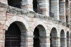 古老罗马圆形露天剧场,竞技场,维罗纳,意大利 免版税图库摄影
