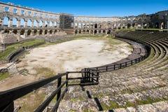 竞技场,在普拉,克罗地亚的罗马Aphitheater 库存图片