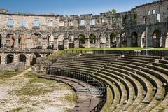 竞技场,在普拉,克罗地亚的罗马Aphitheater 免版税库存照片