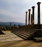 古老罗马城市Volubilis,摩洛哥 免版税库存照片