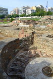 古老罗马废墟塞萨罗尼基 库存照片