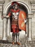 古老罗马战士 免版税库存图片