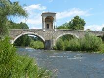 古老罗马桥梁在布雷西亚国家叫Pontenove 免版税库存图片
