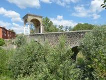 古老罗马桥梁在布雷西亚国家叫Pontenove 库存图片