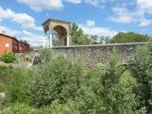 古老罗马桥梁在布雷西亚国家叫Pontenove 免版税库存照片