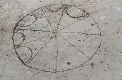 古老罗马棋在Philippi 免版税库存照片