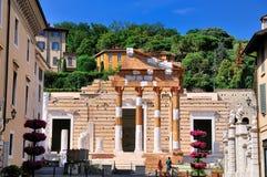 布雷西亚,意大利论坛。 免版税图库摄影
