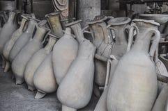 古老罗马amphorae 库存照片