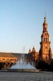古老美丽的广场 免版税库存照片