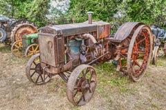 古老美国拖拉机盒C 免版税库存图片