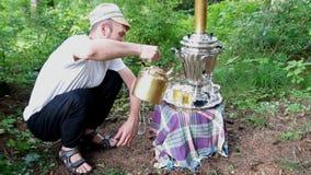 古老老俄国式茶炊 影视素材