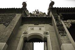 古老老大厦中国庭院  免版税图库摄影