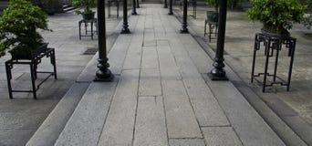 古老老大厦中国庭院  图库摄影