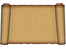 古老老羊皮纸滚动 免版税库存照片