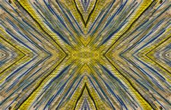 古老背景黑暗的纸水彩黄色 对称的模式 上木 向量例证