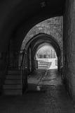 古老胡同在耶路撒冷旧城 免版税库存照片