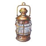 古老船灯笼的例证 皇族释放例证
