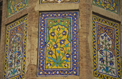 古老艺术墙壁 免版税库存照片