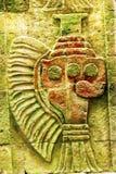 古老花瓶绘画墙壁上的墙壁特奥蒂瓦坎墨西哥城墨西哥 库存图片