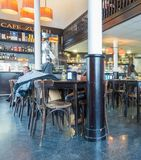 古老苏黎世酒吧在巴塞罗那 库存照片